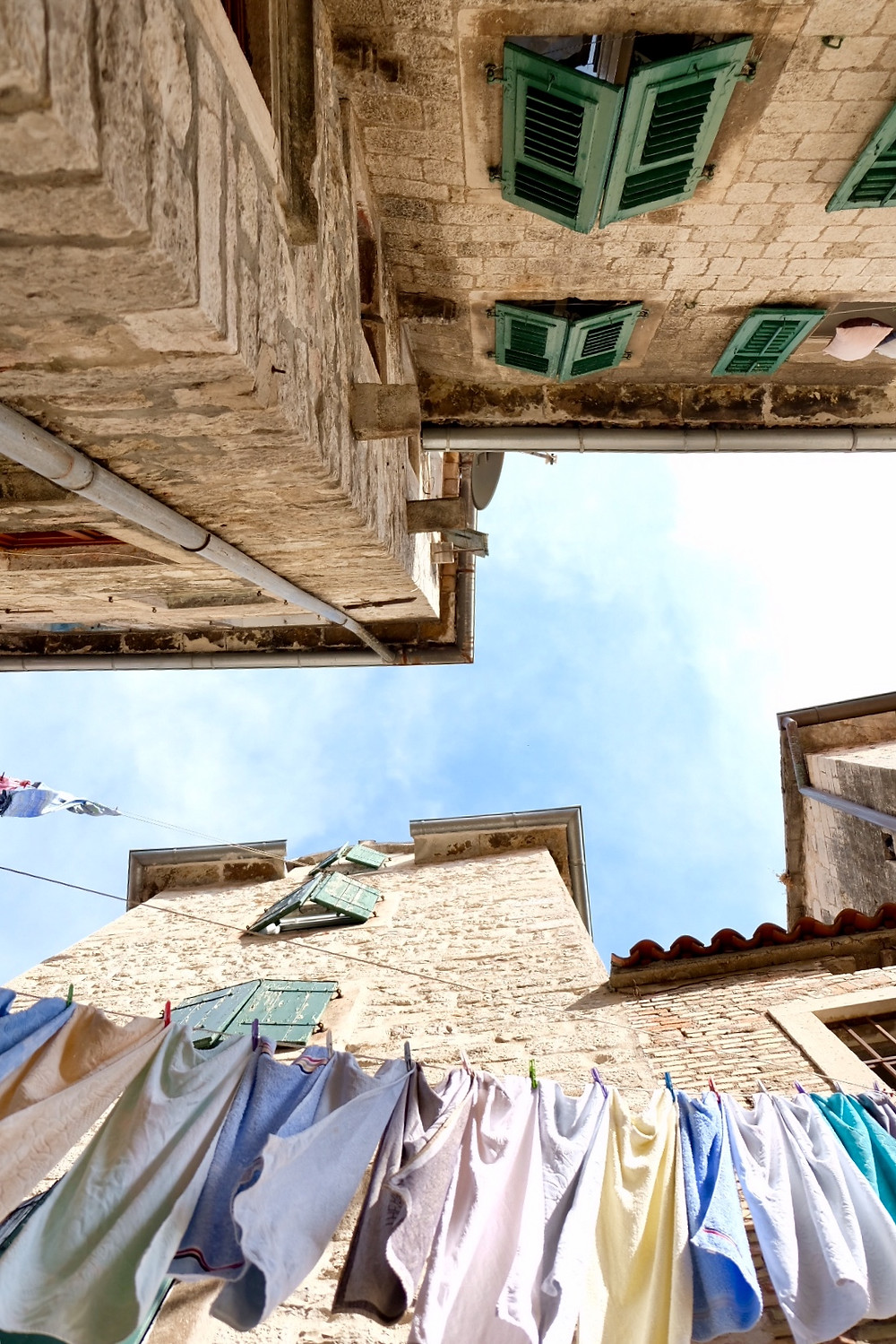 Laundry in the streets of Kotor
