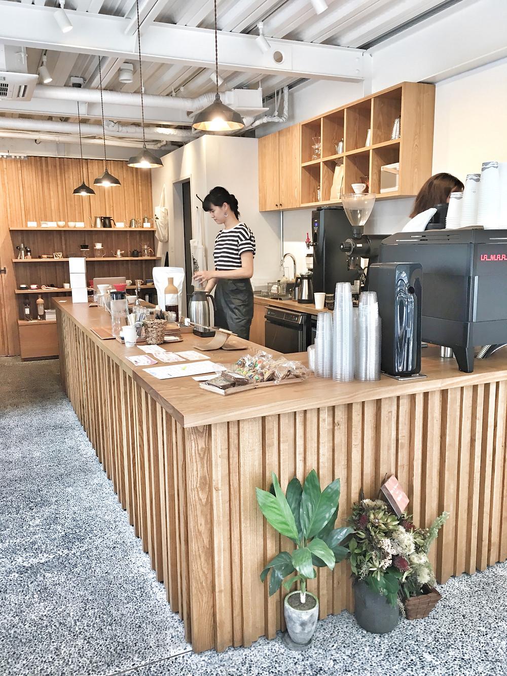 Kurasu coffee bar in Kyoto