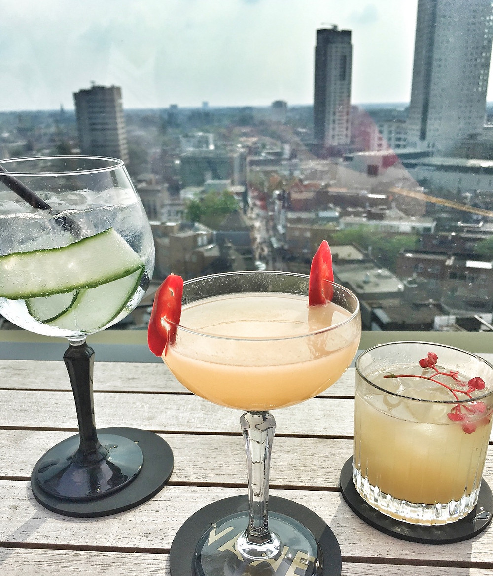 Cocktails at VANE Skybar in Eindhoven