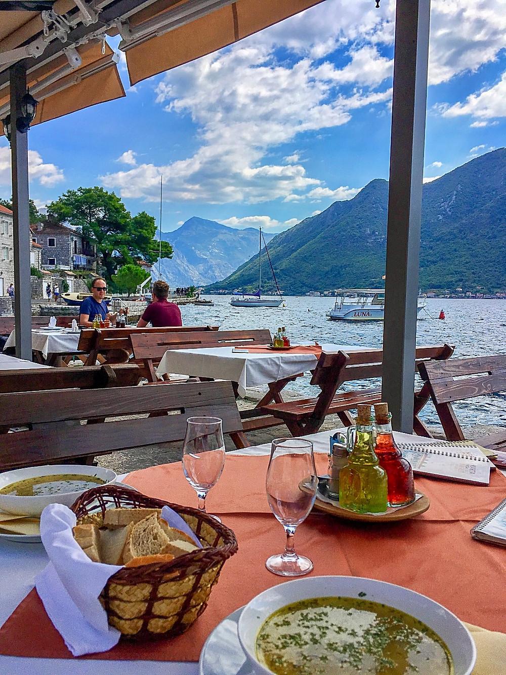 Lunch in Perast Montenegro