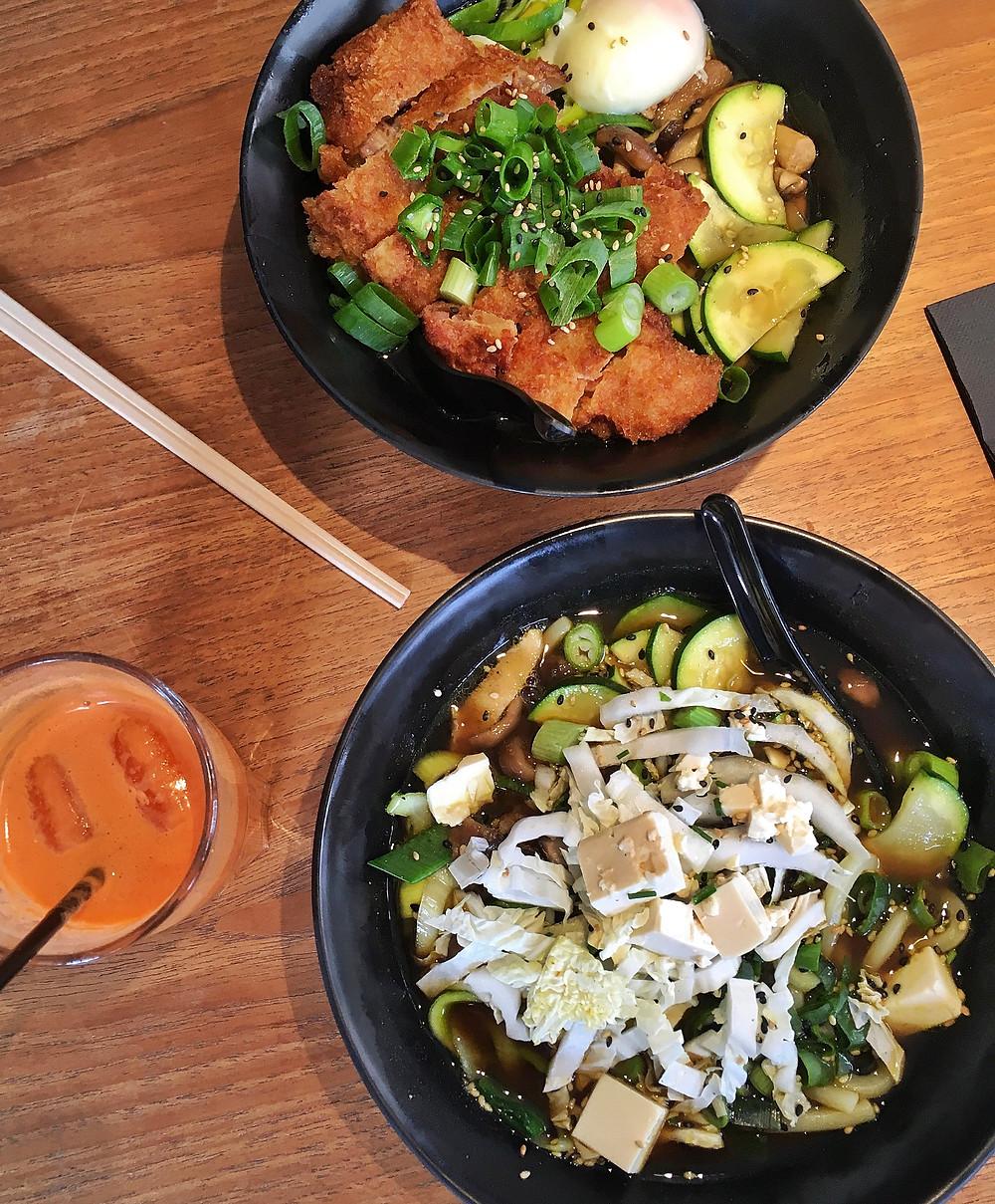 Food at Little Tokyo, Brussels, Belgium