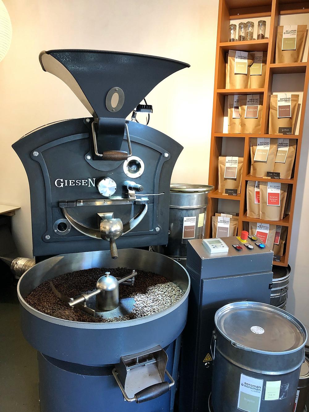 Giesen coffee roaster at Borgman Borgman in Leiden
