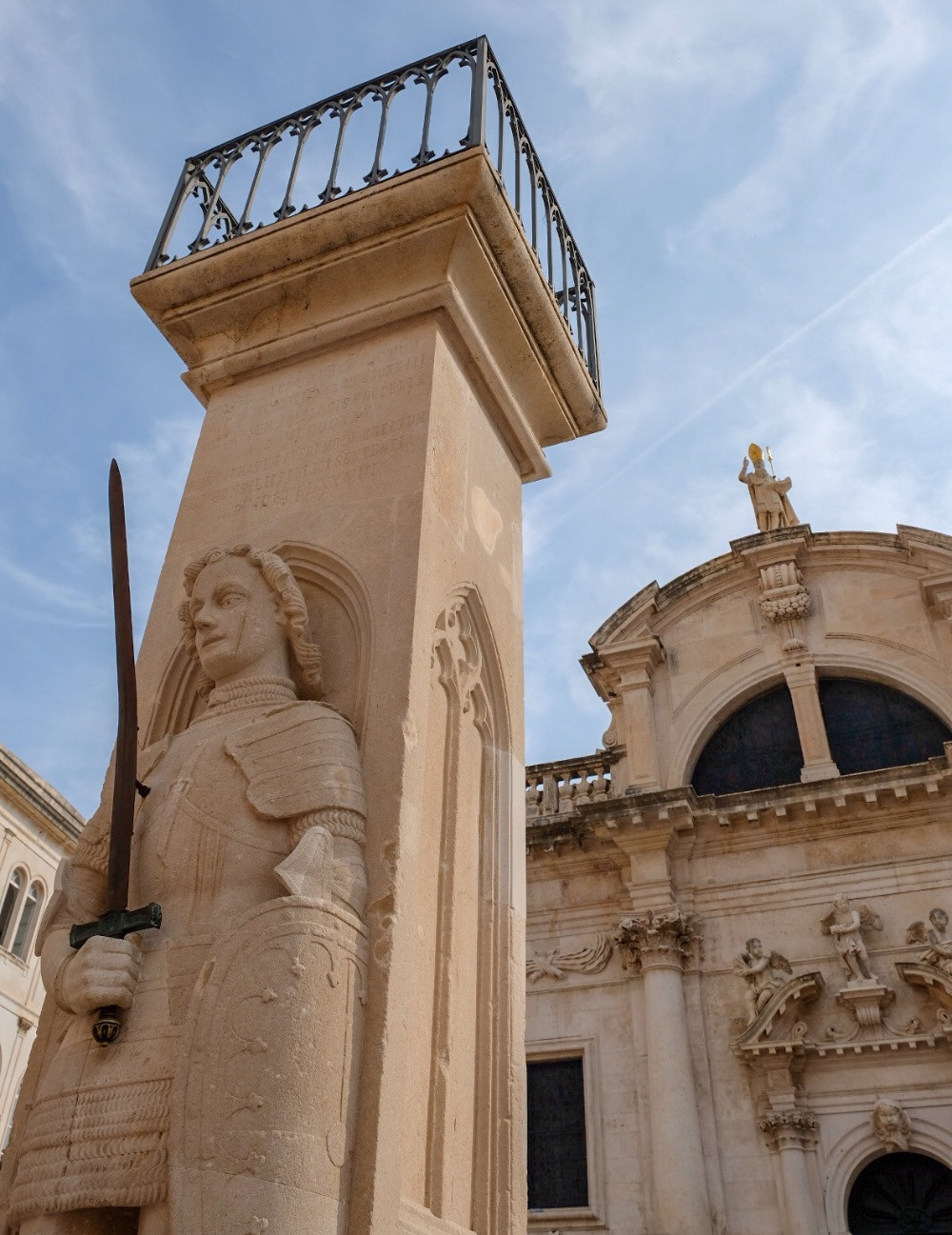 Orlando's Column at Dubrovnik Croatia