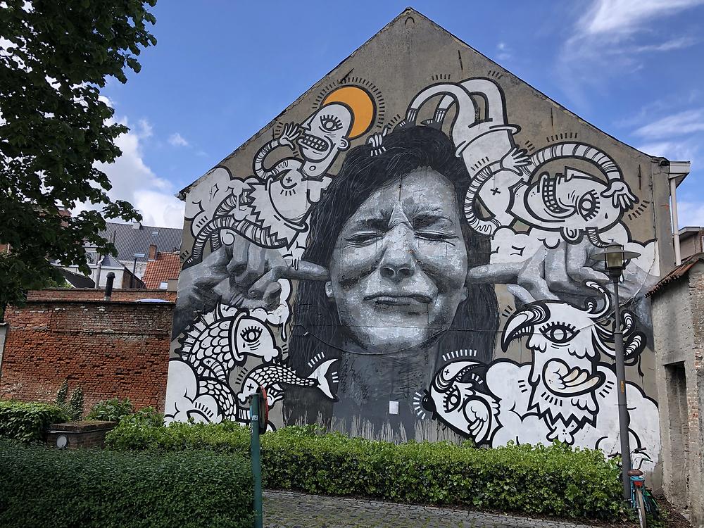 Joachim & Nils Westergard street art Lier