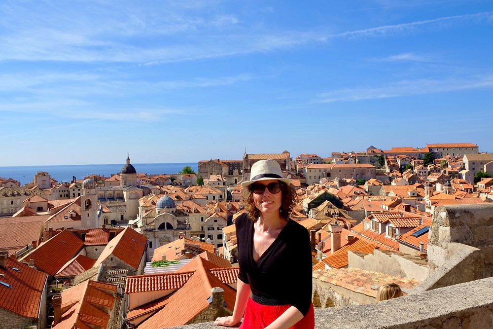 Lonnies Planet on ramparts of Dubrovnik