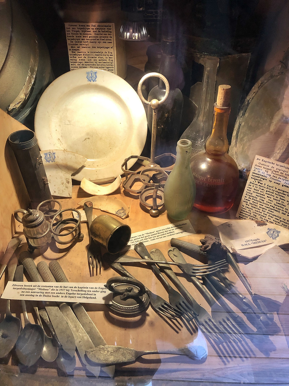 Collection of the Shipwreck meuseum at Terschelling