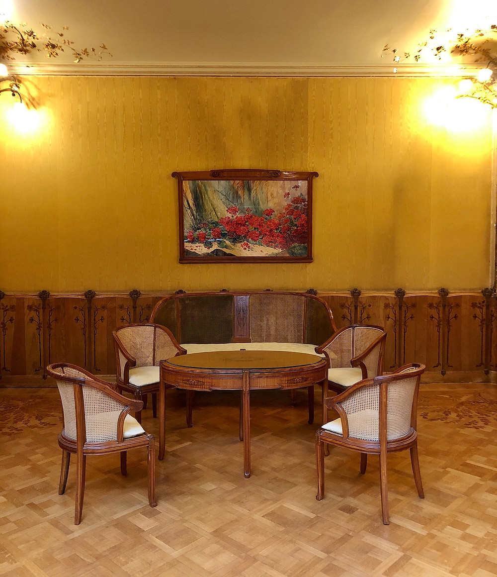 Interior of Maison Losseau, Mons Belgium