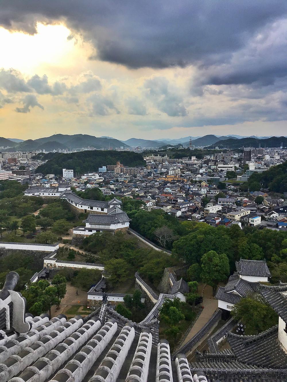 View from Himeji Castle in Japan