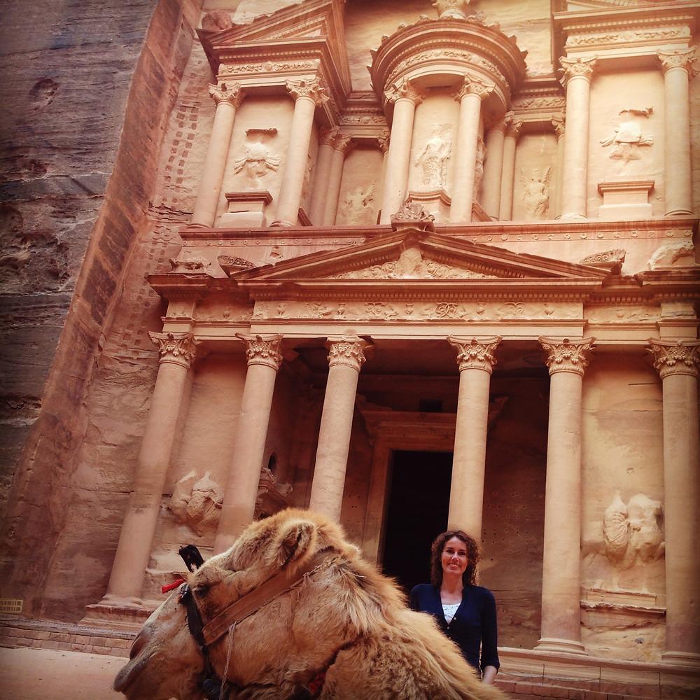 Lonnies Planet at the Treasury in Petra Jordan