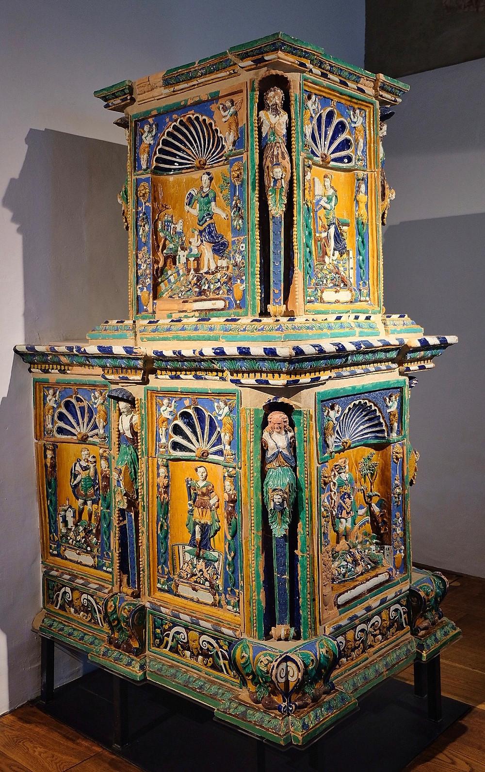 Ceramic stove at Hohensalzburg Fortress Salzburg