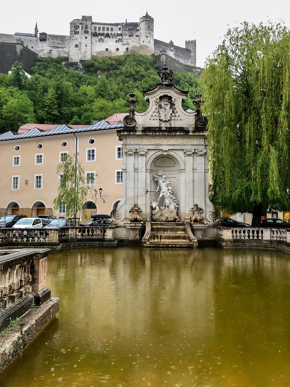 Chapter Fountain on Kapitelplatz Salzburg