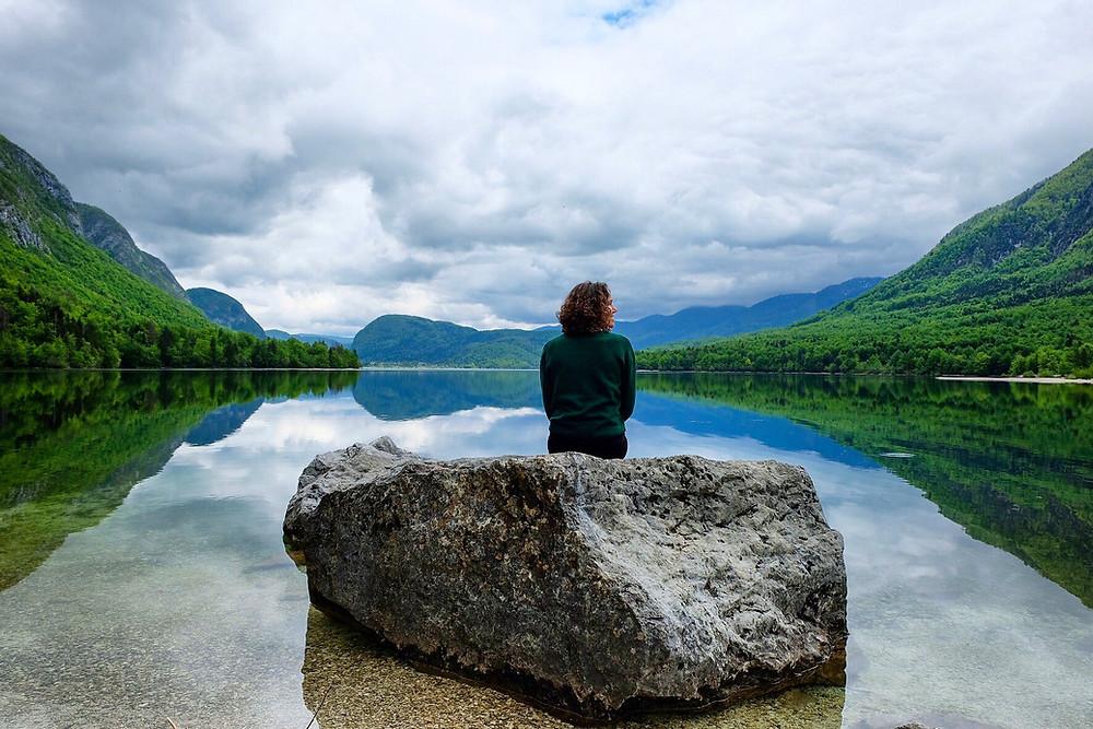 Lonnies Planet at Lake Bohinj, Slovenia