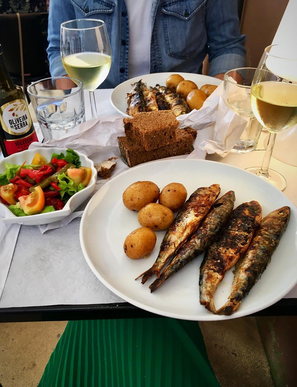 Dinner at Pimms Café in Porto