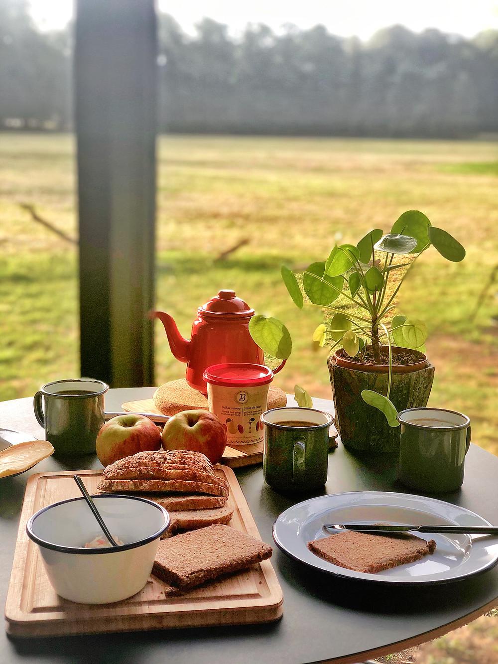 Breakfast at Slow Cabins Belgium
