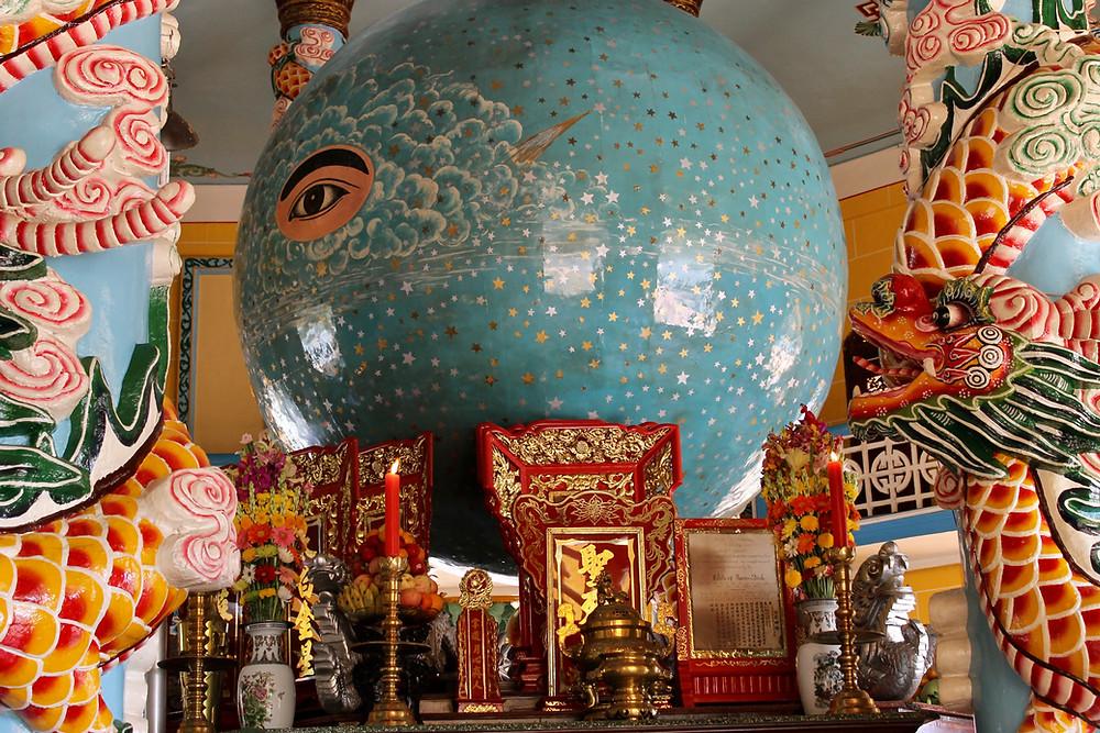 Devine eye Cao Dai Temple Vietnam