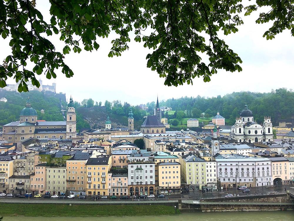 View from Kapuzinerberg Salzburg