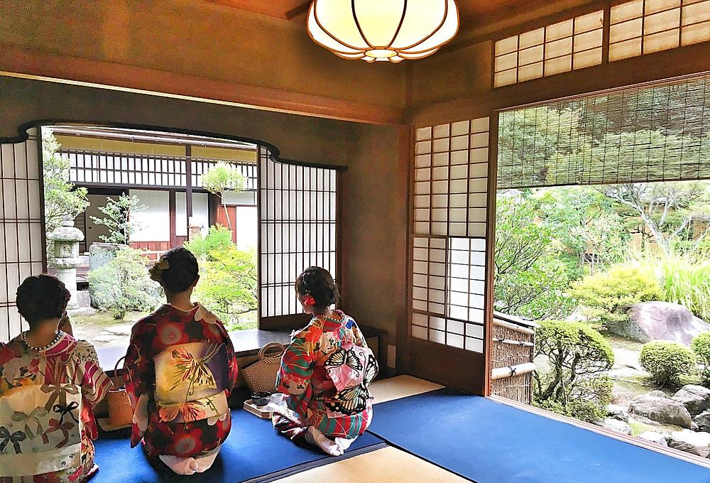 Tea house at Fushimi Inari Shrine, Kyoto Japan