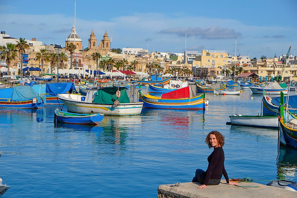 Lonnies Planet at Harbour of Marsaxlokk Malta