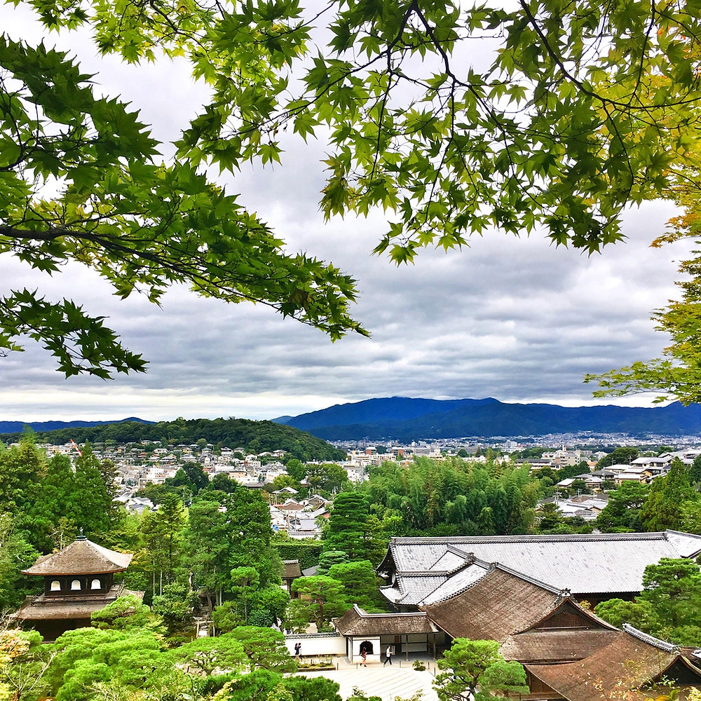 View over Kyoto Japan