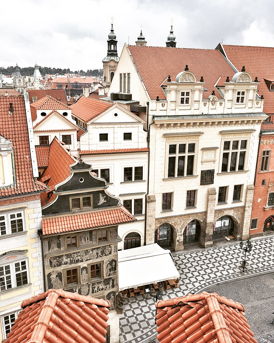 View from Terasa U Prince in Prague