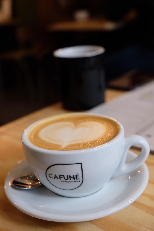 Coffee at Cafuné Espresso Bar in Bruges