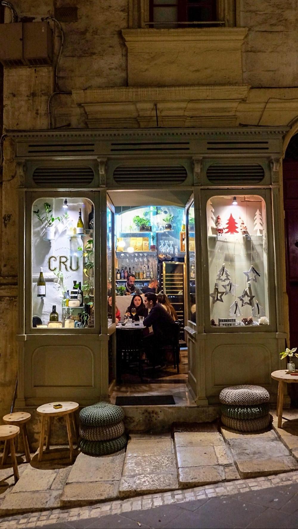 Cru Wine Bar in Valletta Malta