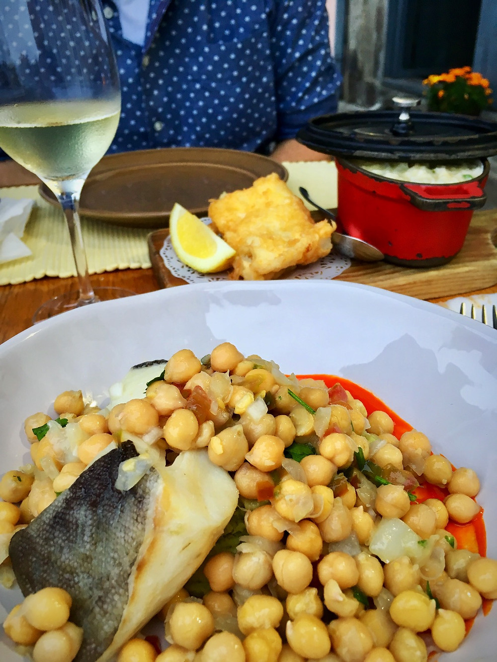 Dinner at Restaurant Bacalhau in Porto