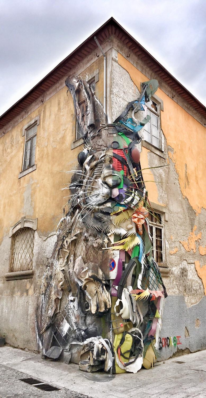 Street Art by Bordalo II in Porto