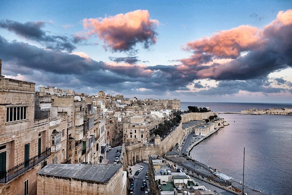View over Valletta Malta