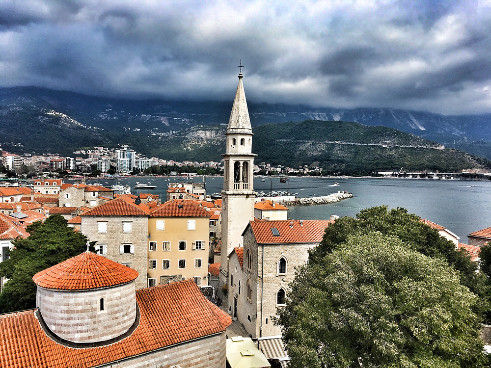 View from citadel over Budva