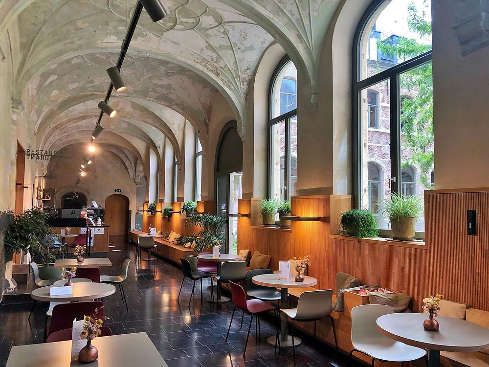 Barbib café in Het Predikheren in Mechelen Belgium