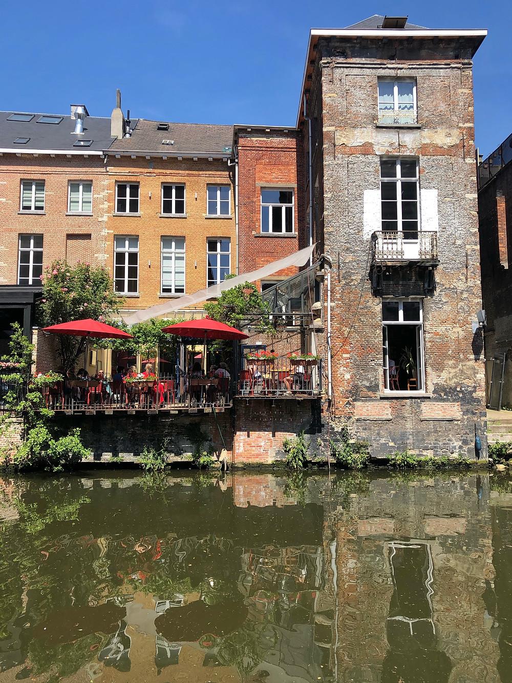 Terrace at Dijle in Mechelen