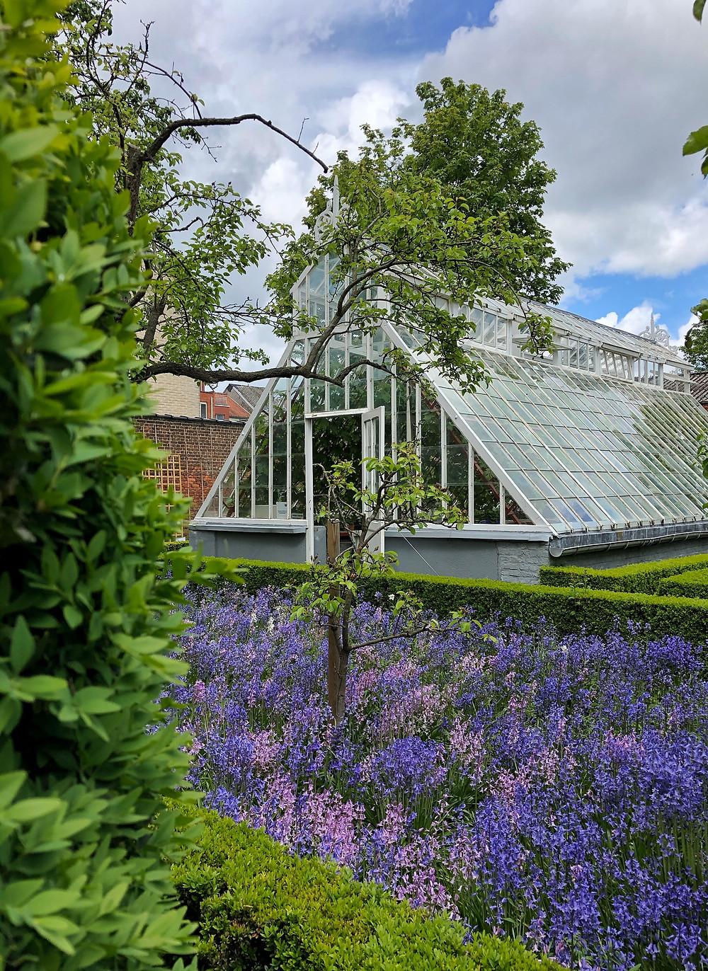 Greenhouse in garden of Huis van Oscar in Lier