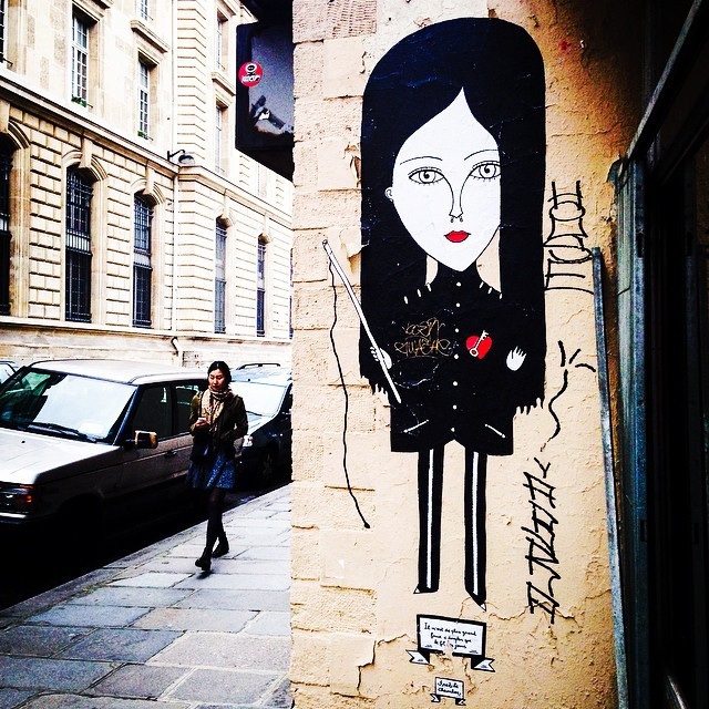 Street art by Fred Le Chevalier in Paris