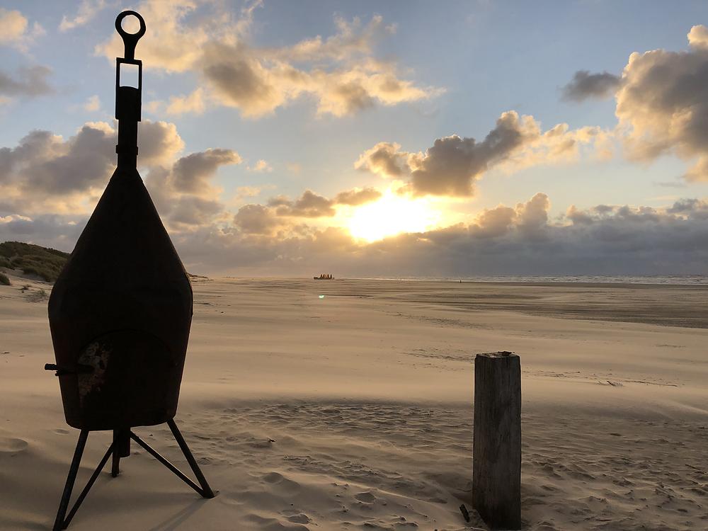 Sunset view from Beach Bar 'West aan Zee' Terschelling
