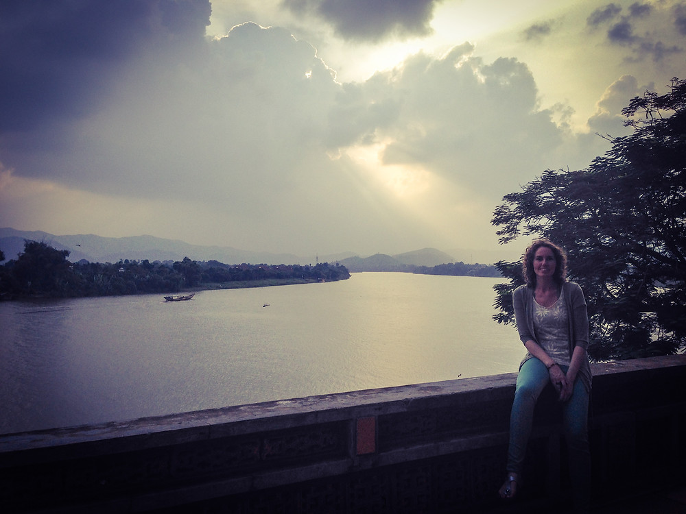 Lonnies Planet at Perfume River in Hue Vietnam