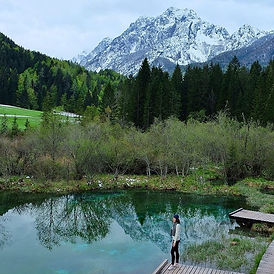 The name of this lake is Zelenci, which