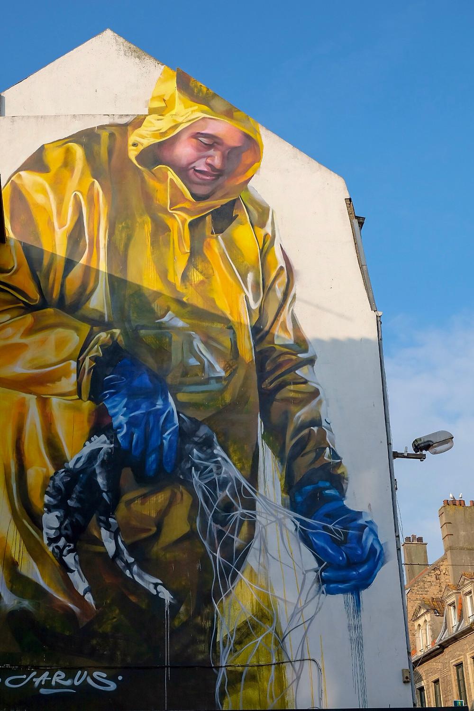 Street Art by Jarus in Boulogne-sur-Mer, France