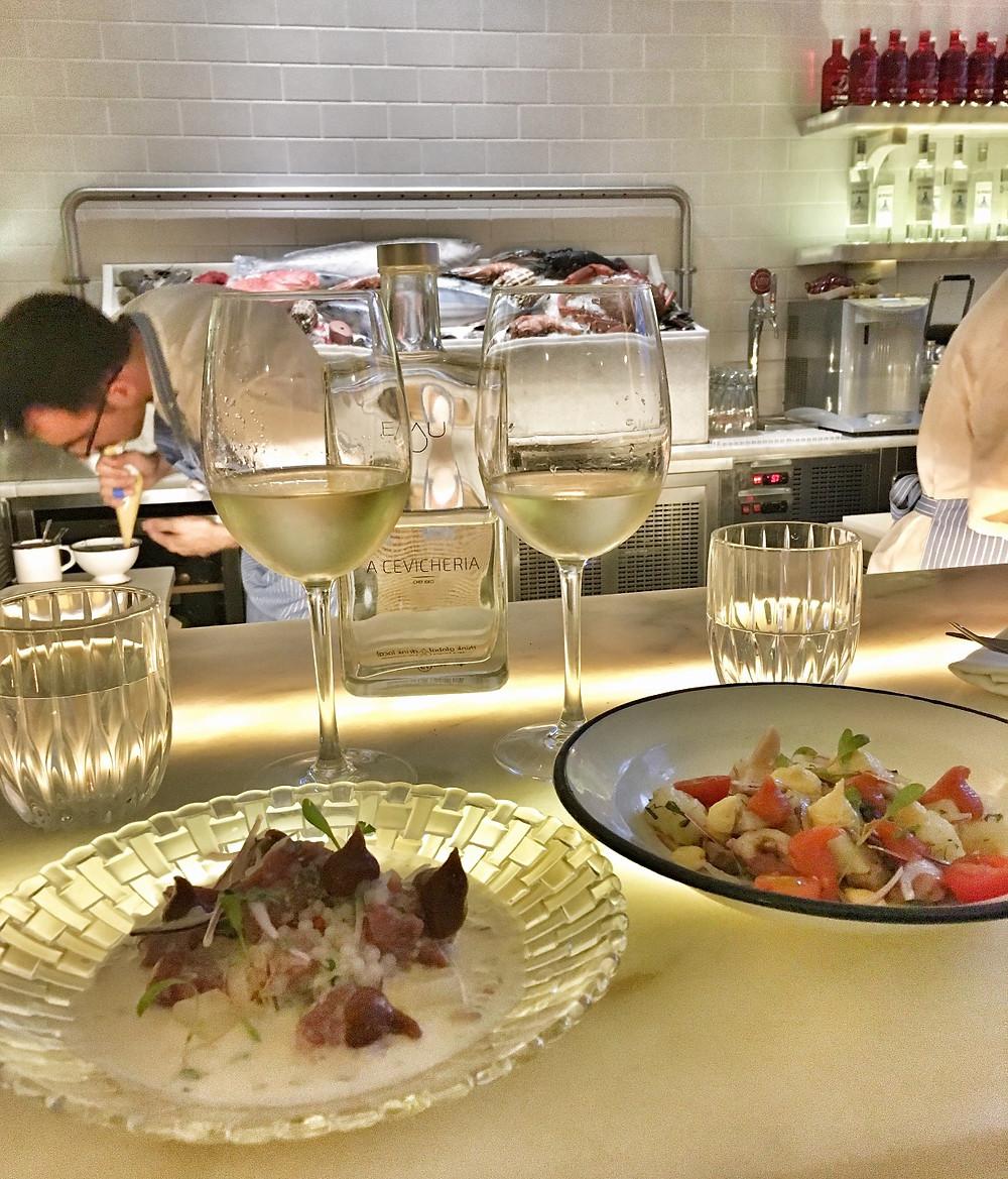 Food at A Cevicheria Lisbon