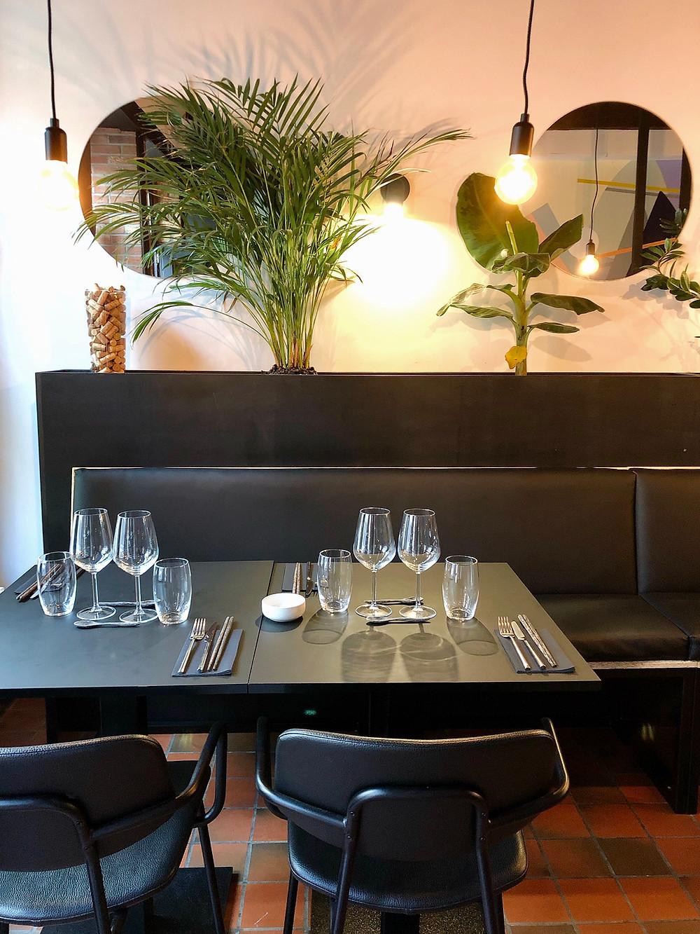 Interior of Masu Restaurant, Mons Belgium