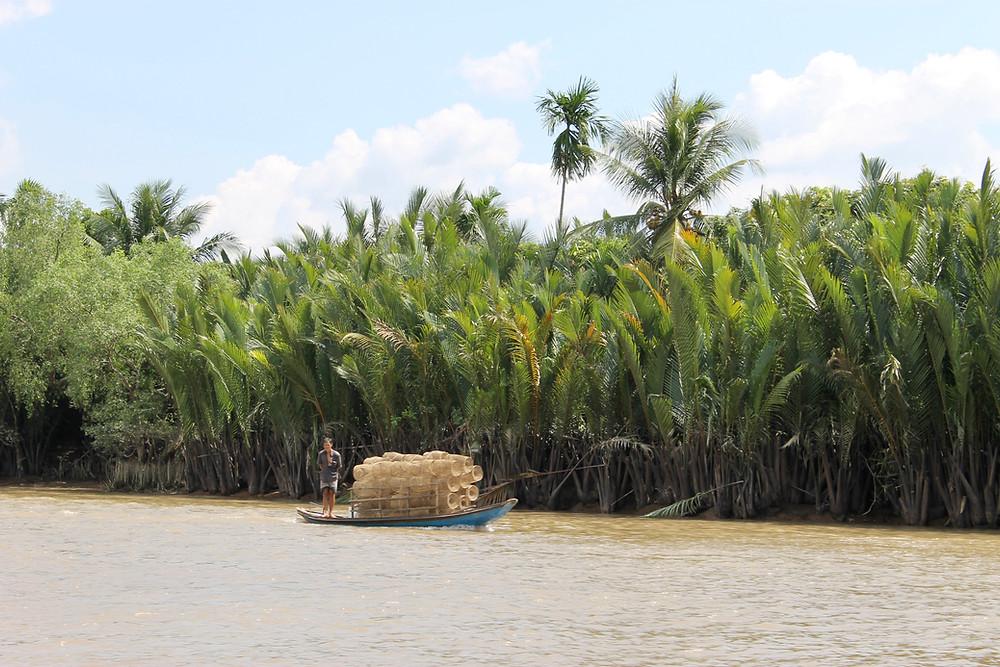 Cargo boat in Mekong Delta