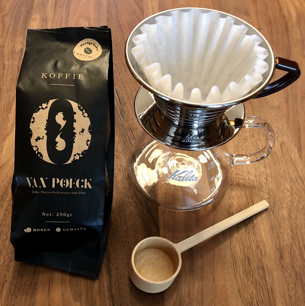 Coffee from Van Poeck at home (brewing equipment is our own)