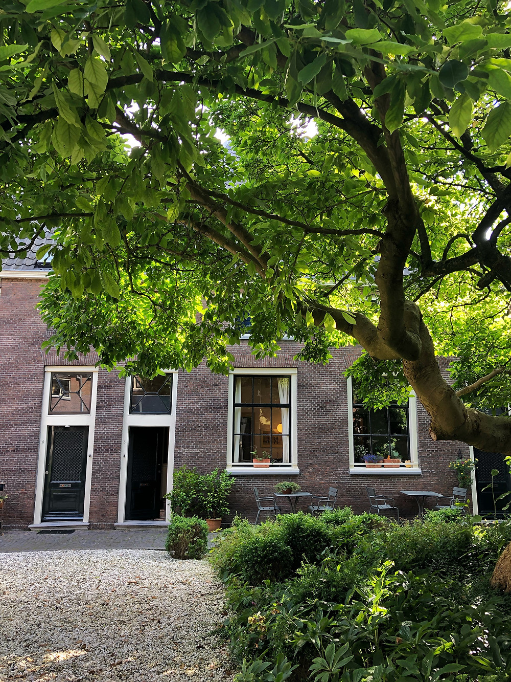 Courtyard garden of Jean Pesijnhofje in Leiden