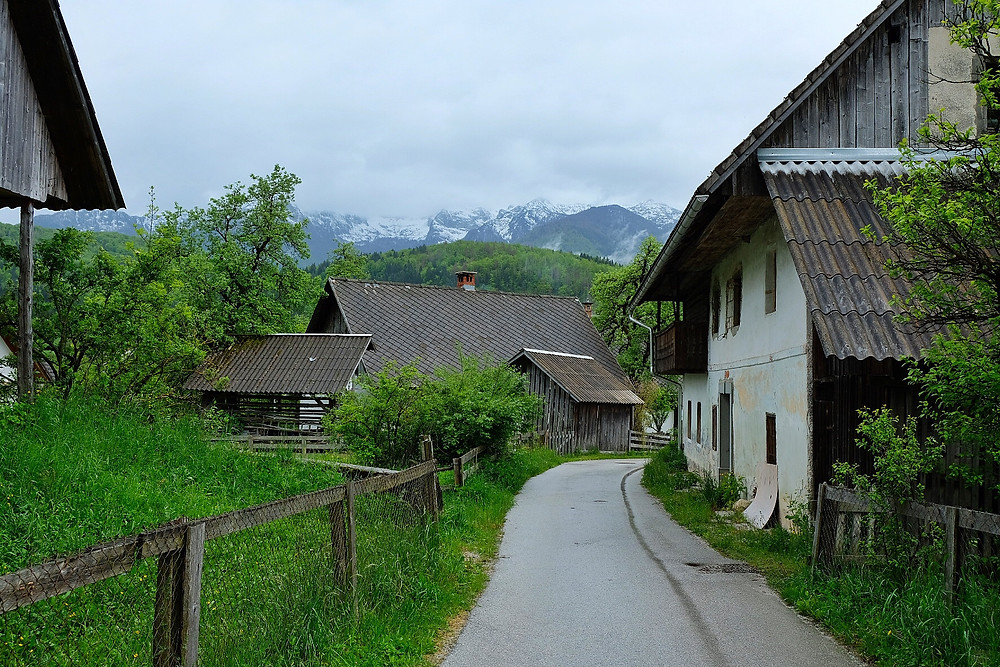 Farms in Stara Fuzina, Slovenia