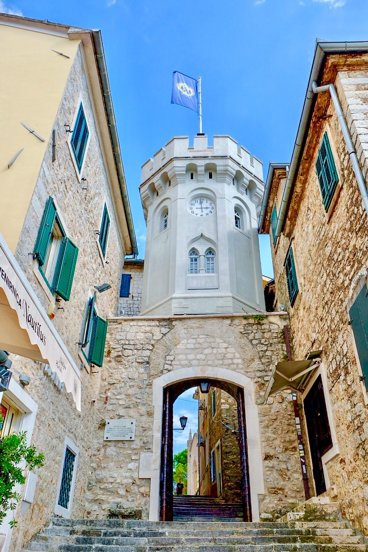 Clock Tower in Herceg Novi Montenegro