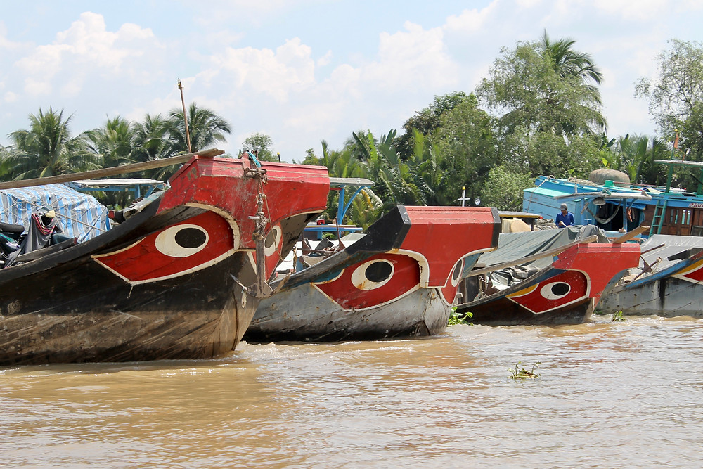 Boats in Mekong Delta