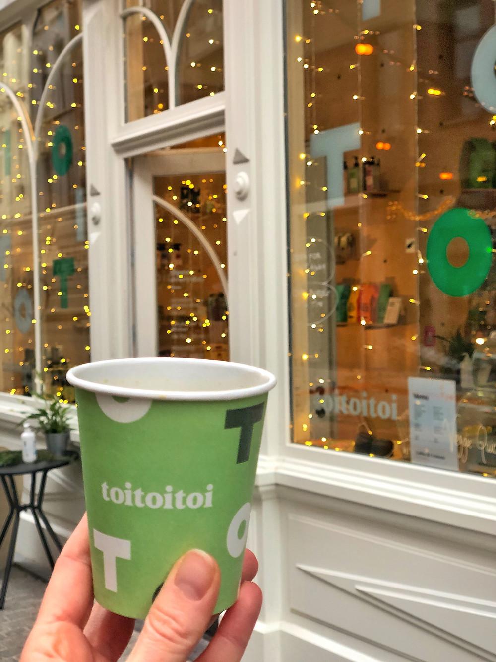 ToiToiToi - Specialty Coffee x Culture Antwerp, take away coffee