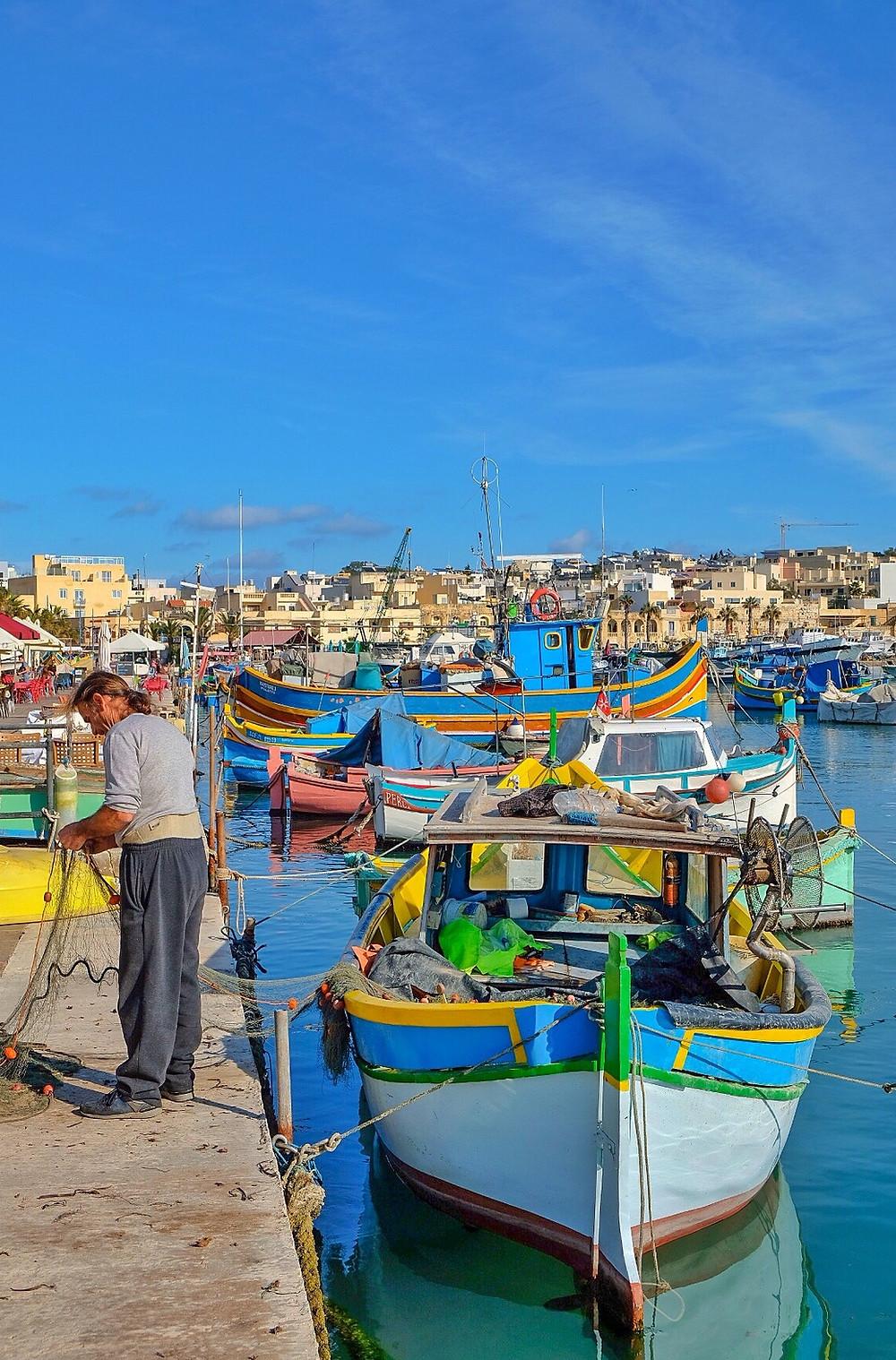 Harbour of Marsaxlokk, Malta