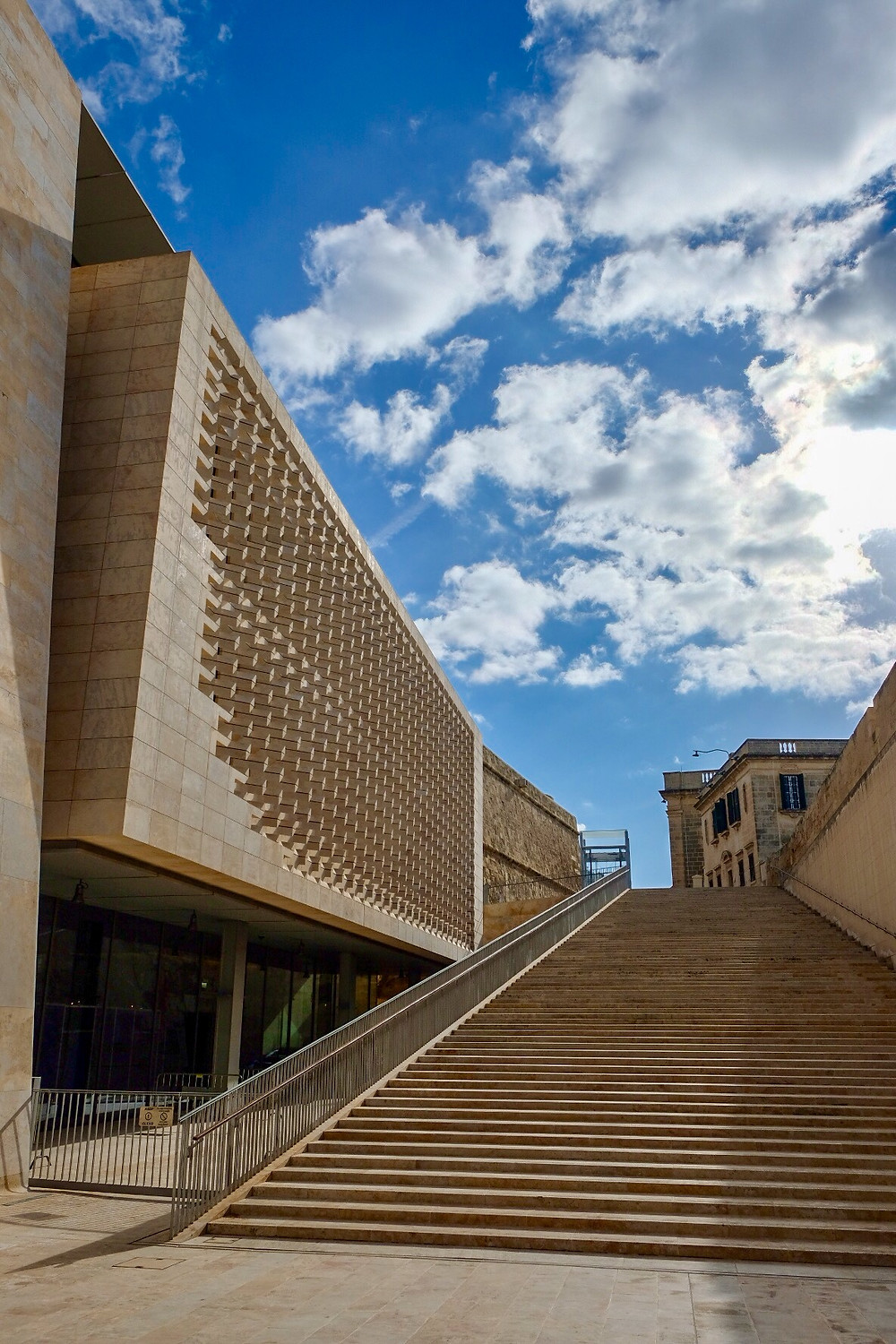 The Parliament Building by Renzo Piano in Valletta