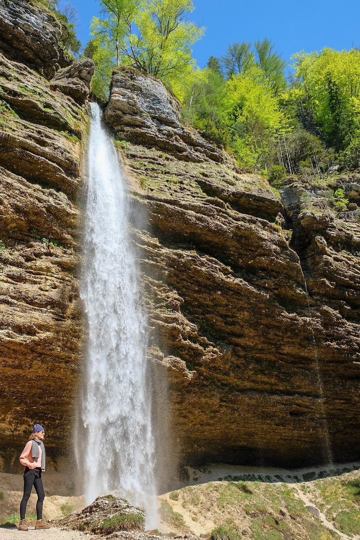 Lonnies Planet at Peričnik Waterfall, Slovenia